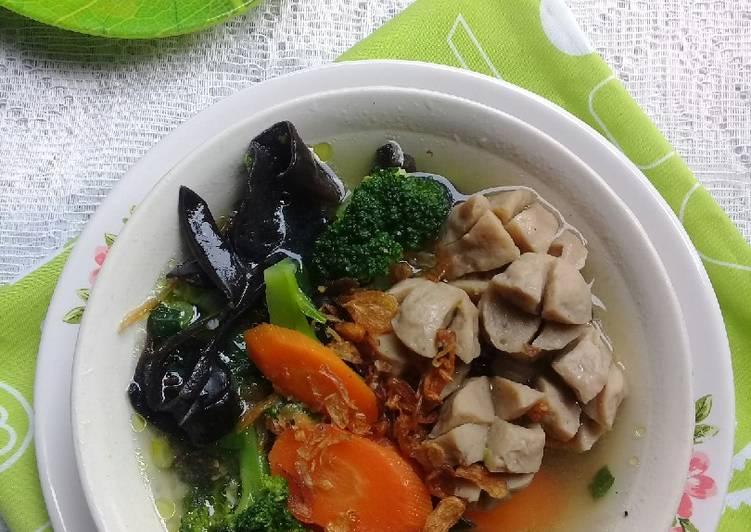 Resep Sup Sayur Bakso Sapi Yang Gampang Endes