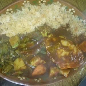 #pollo Mixiote de pollo sencillo en adobo con verduras
