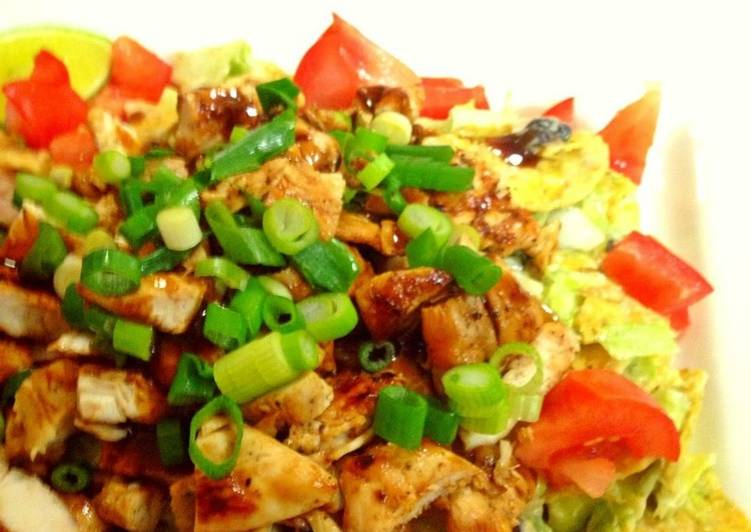 Recipe: Appetizing Chicken BBQ Salad