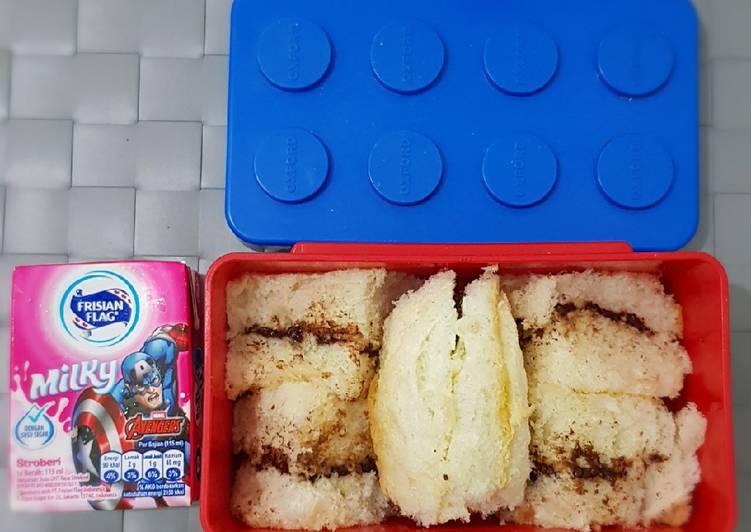 Isian Roti (cream filled) bekal anak TK simpel