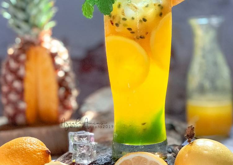 Jus Nenas+Markisa+Lemon #maratonRaya #minuman #minggu2 - resepipouler.com