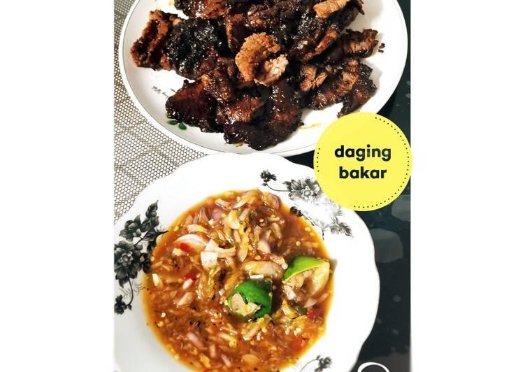 Daging Bakar dan Sos Ala Thai