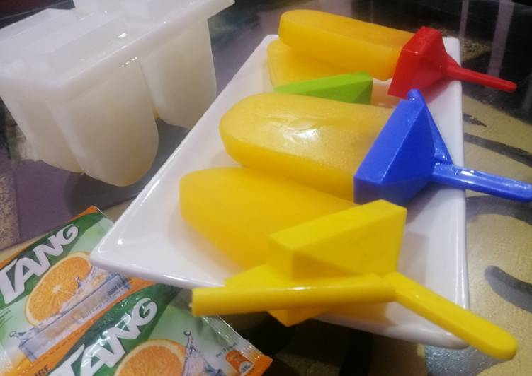 Tang Orange Flavoured Popsicles