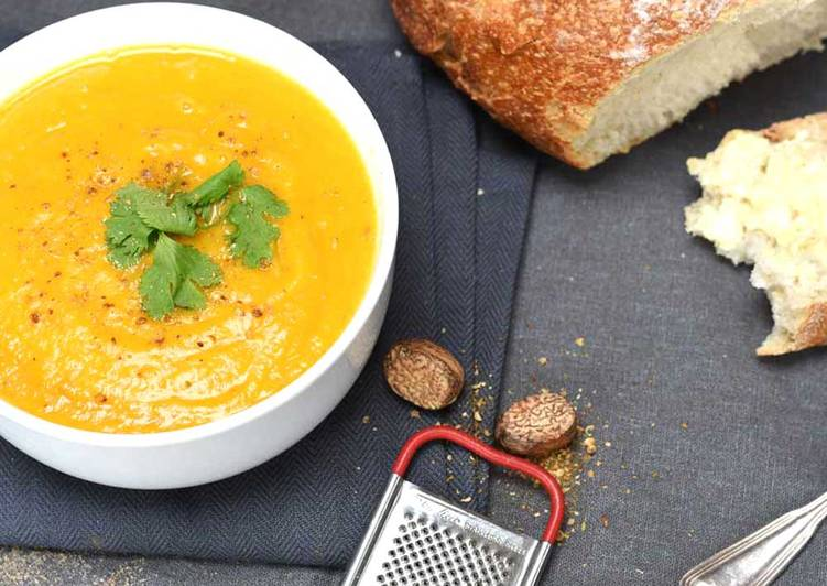 Simple Way to Make Ultimate Butternut Squash & Sweet Potato Soup with Coriander & Cumin