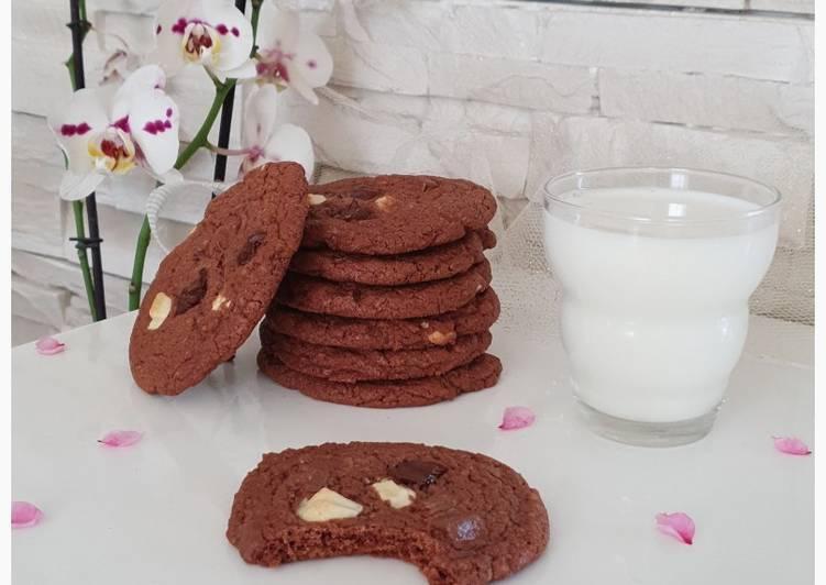 Comment faire Faire Délicieux Cookies aux trois chocolats