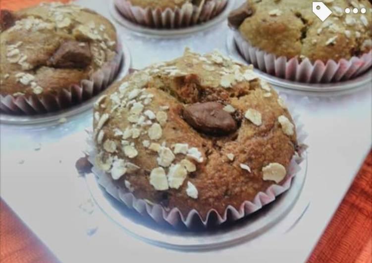 Oats Banana Chocochips Muffins