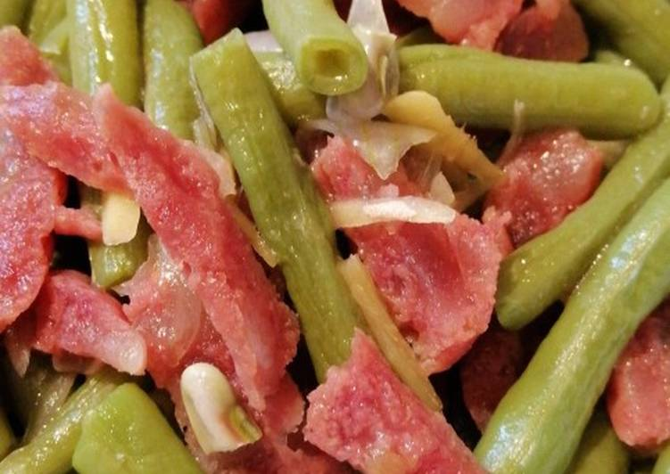 Recipe: Delicious String beans w/ Chinese Sausage