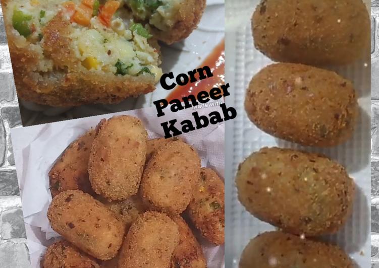 Recipe of Award-winning Corn Paneer Kabab Recipe