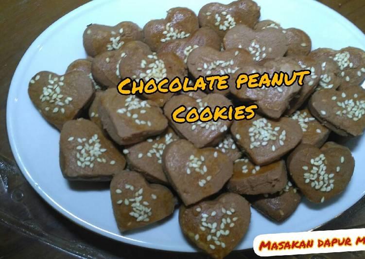 Recipe chocolate Peanut Cookies / resep kue kering kacang coklat