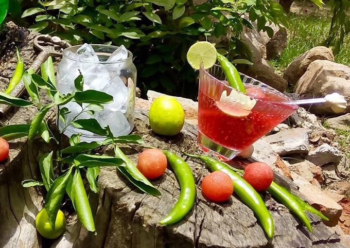 Watermelon chilli Mojito