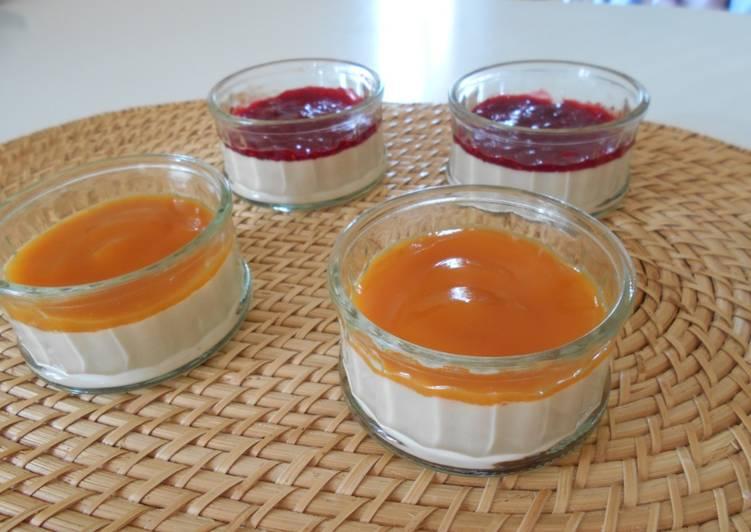 Panna cotta abricot ou framboise