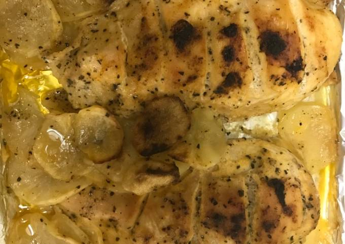 Chicken breast cooked in oven