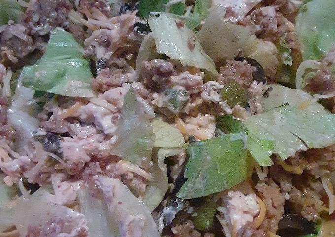 Recipe: Tasty Healthy taco salad