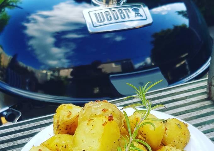 Lemon and Herb BBQ Roast Potatoes🍋