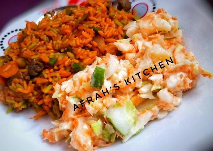 Fried rice da potatoes salad