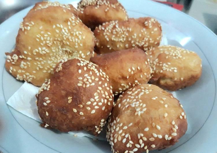 Odading / Kue Bantal / Roti Goreng Wijen Viral