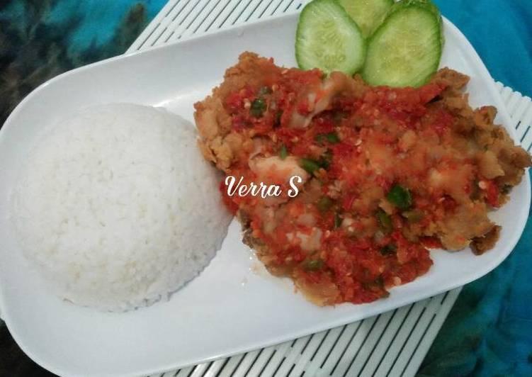 Ayam geprek special ala bunda Verra 😊
