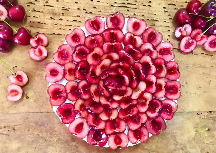 Ricetta Cheesecake yogurt e ciliegie