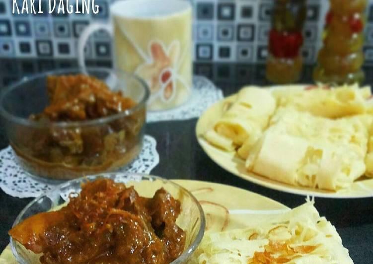 Roti Jala & Kari Daging