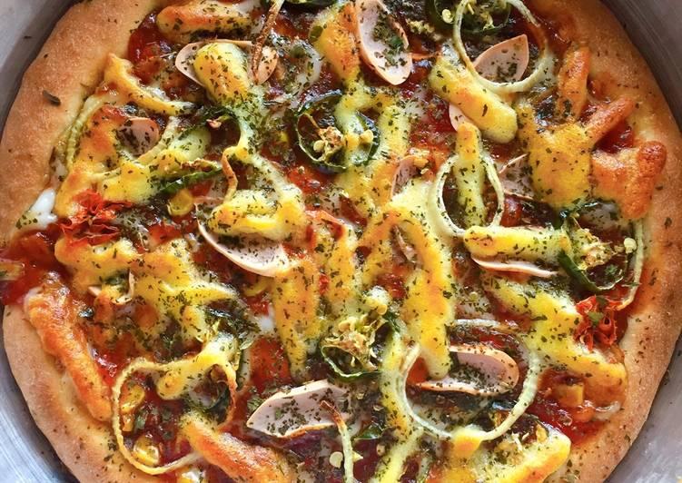Pizza Sosis Ayam Pedas (tanpa ulen)