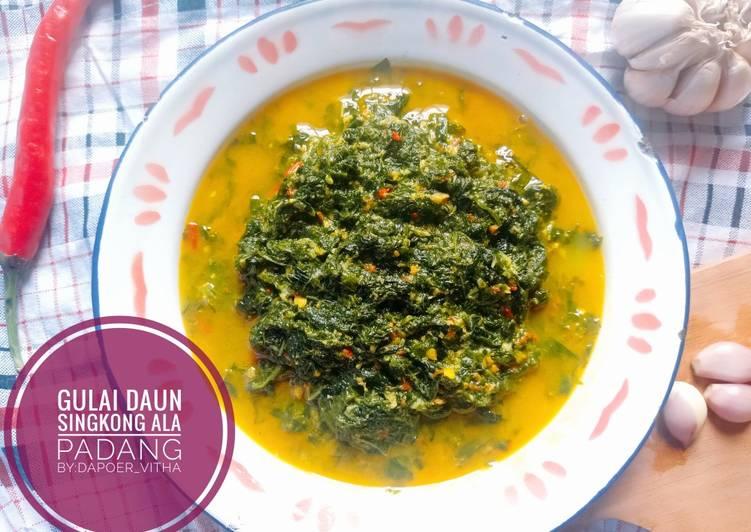 Gulai daun singkong ala masakan padang