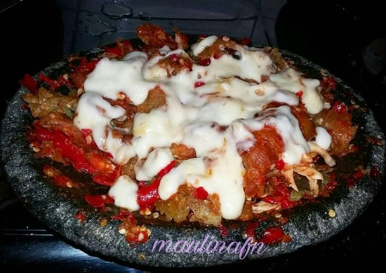 Ayam Geprek Mozarella Homemade