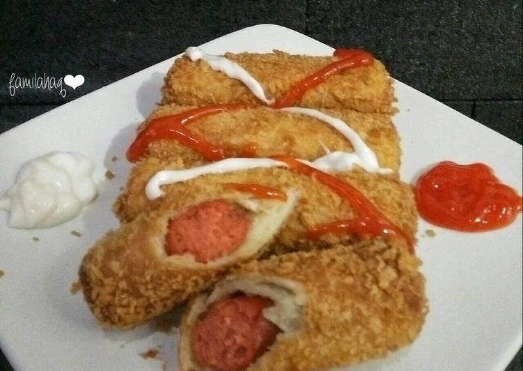 Roti Goreng Sosis Mayo