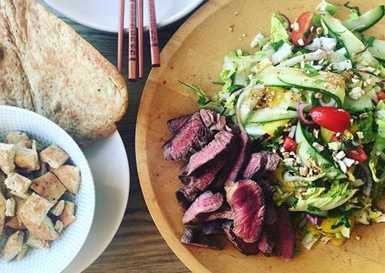 Easiest Way to Make Homemade Steak salad