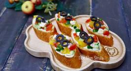 Hình ảnh món Bánh Mì Salad Cà Chua Phô Mai Kiểu Ý - Italian Salad Bruschetta