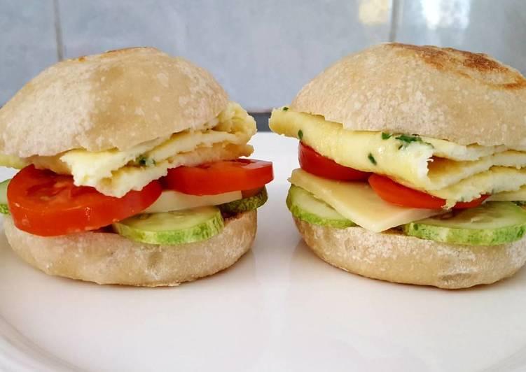 Vegetarian burger with homemade sourdough bun