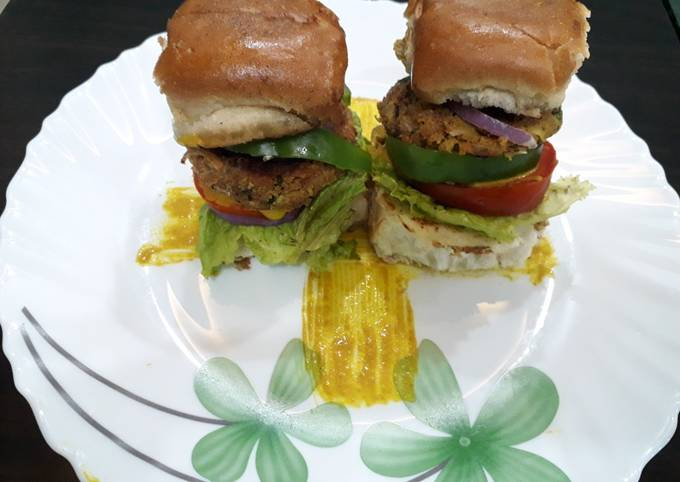 Soya burger healthy and make to easy