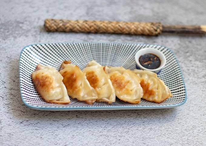 Pork dumpling or Gyoza