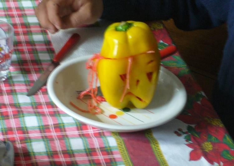 Peperone ripieno di pasta