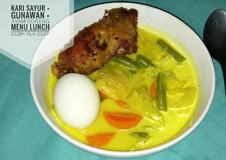 Resep Kari Sayur Lunch ala DEBM Yang Populer Pasti Endes