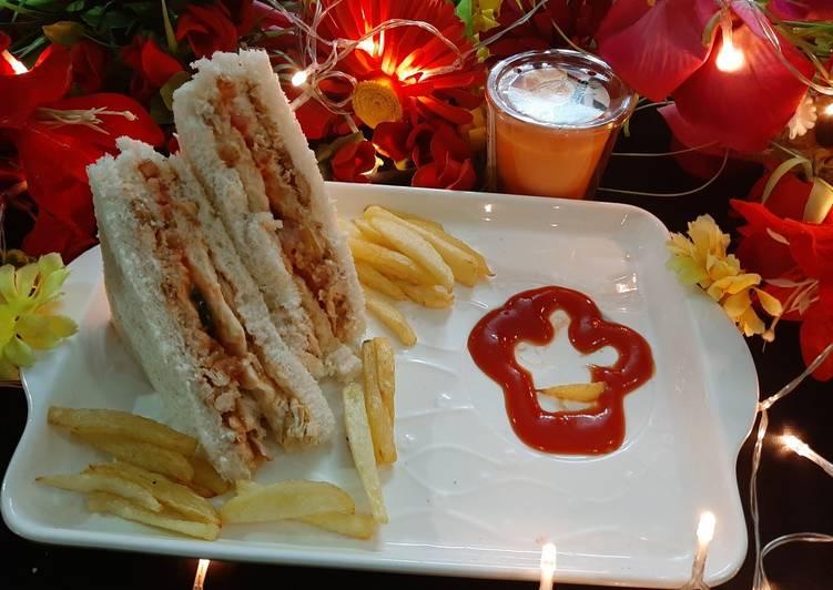 Recipe of Perfect Chicken tikka sandwiches