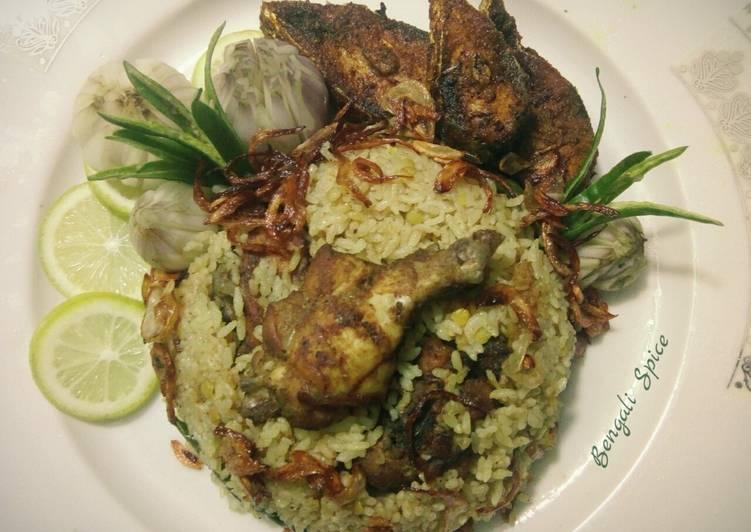 Chicken Yakhni Pulau / ইয়াখনি পোলাও (Indian traditional dish) 💛