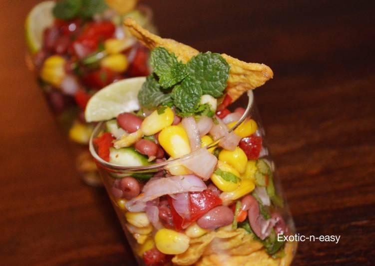 Nachos Corn and bean Salad