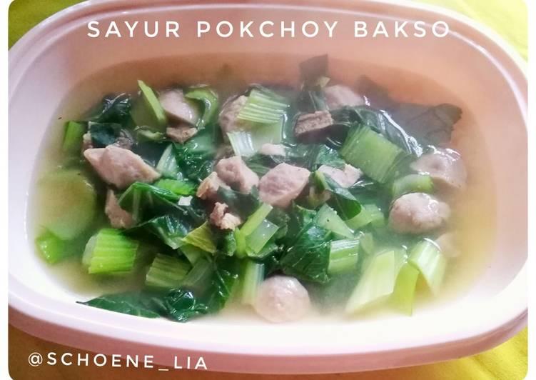 Sayur Pokchoy Bakso