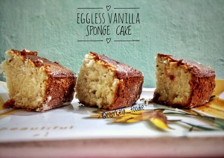 How to Make Homemade Eggless Vanilla Sponge Cake