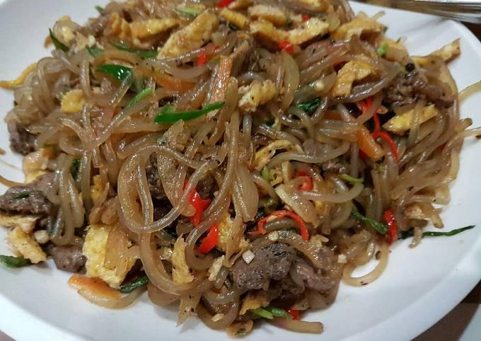 resep japchae enak Resep Japchae Daging Enak dan Simple oleh Endiska - Cookpad