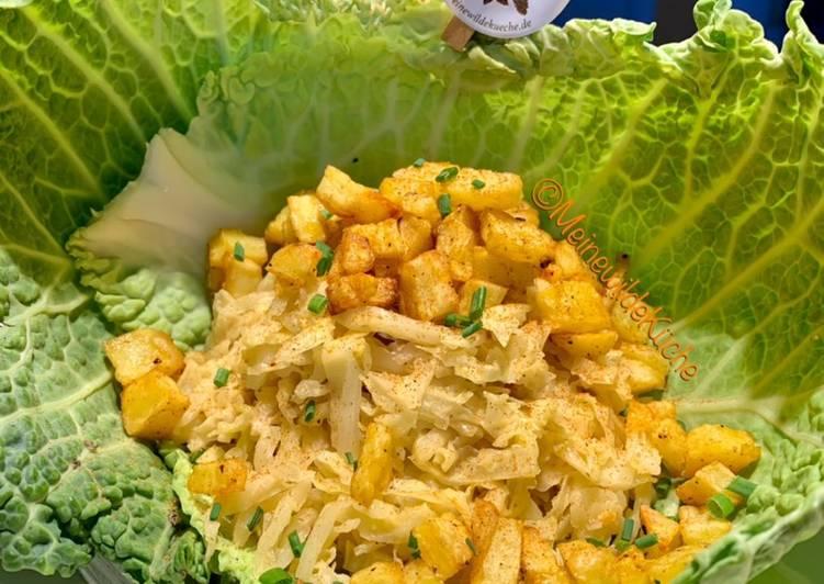 Sahne Wirsing mit Knusper Kartoffeln