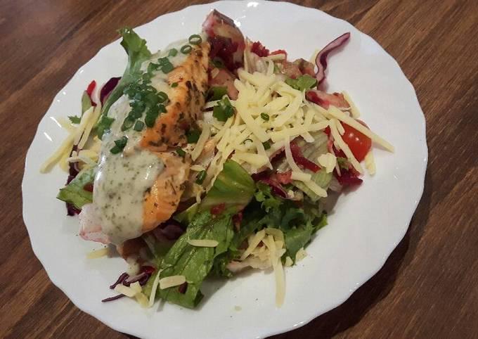 Salmon, Potato and Beetroot Salad