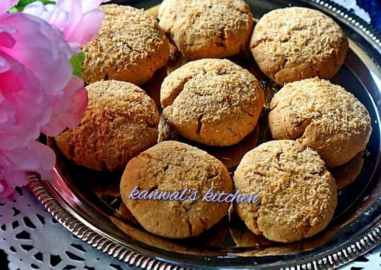 How to Make Perfect Wholewheat coconut cookies
