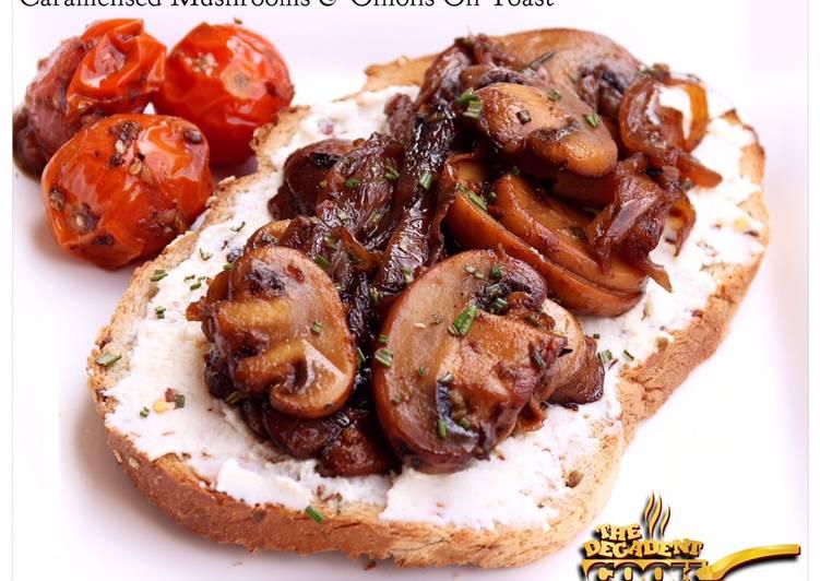 Caramelised mushrooms and onions