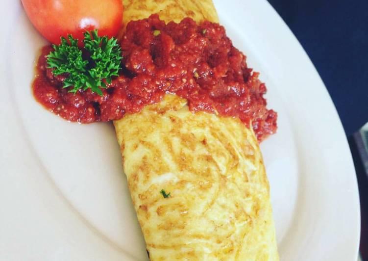Recipe: Appetizing Omurice (Omelette rice)