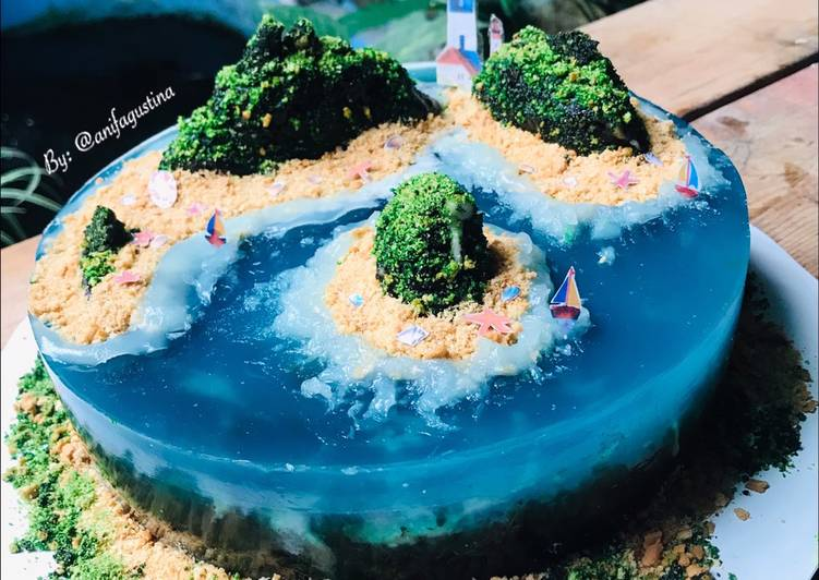 "Island Cake ""versi Agar Agar"""