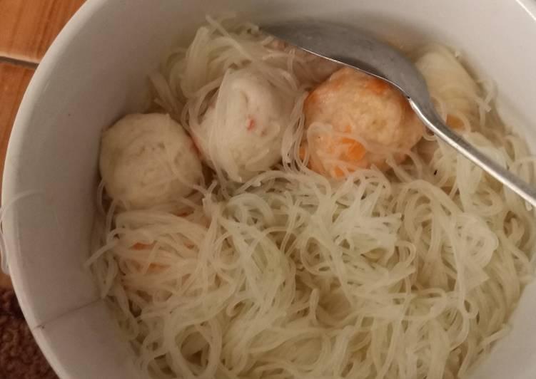 Bakso Seafood Bihun simple kebangetan😁