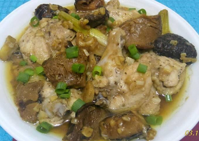 Steamed Chicken and Mushroom