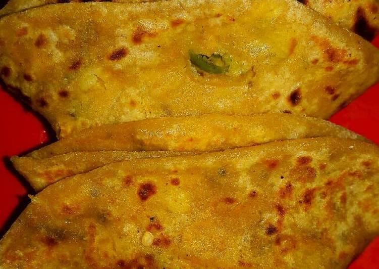 15 Minute How to Make Vegan Stuffed daal paratha