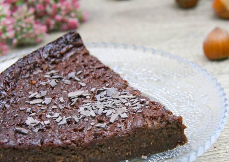 Recette Délicieux Gâteau chocolat/noisette à la courgette